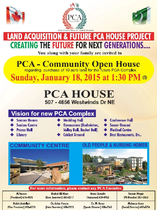 Land Acquisition & Future PCA House Project Open House