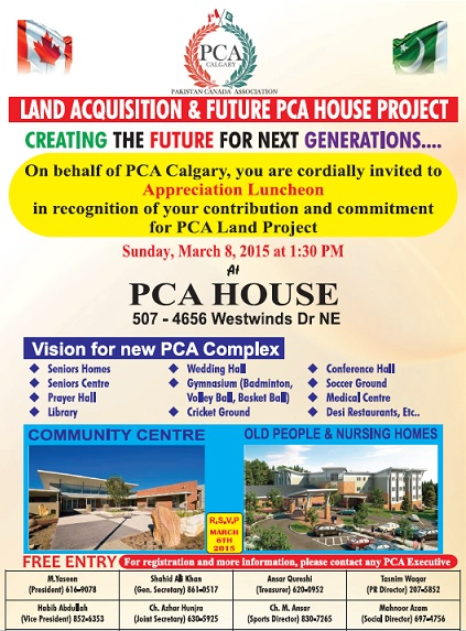 Land Acquisition & Future PCA House Project Appreciation Luncheon