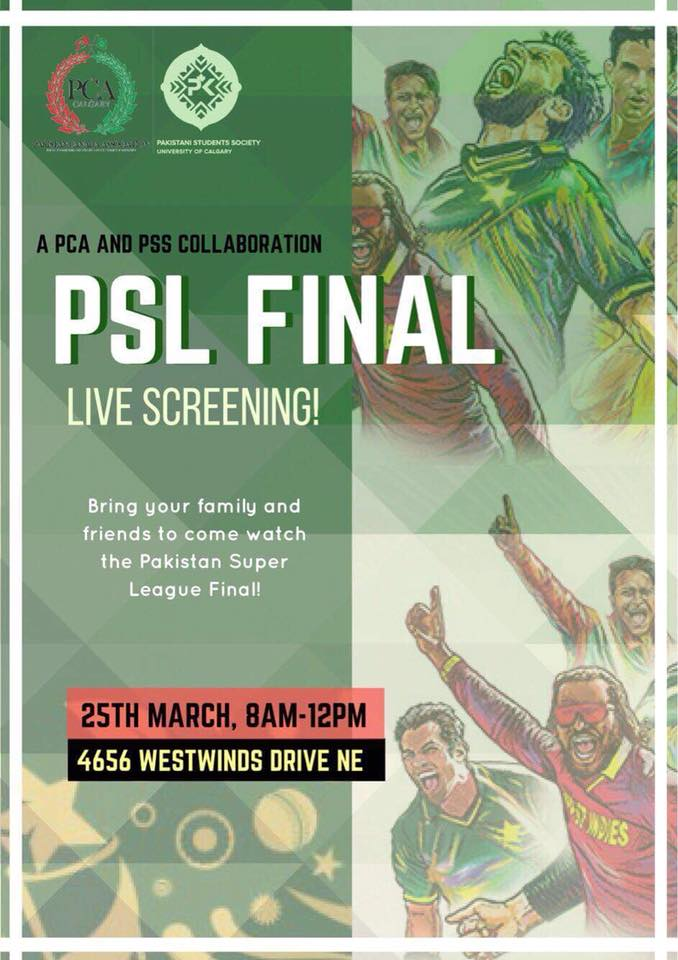 PSL Final LIVE Screening! On March 25, 2018!!