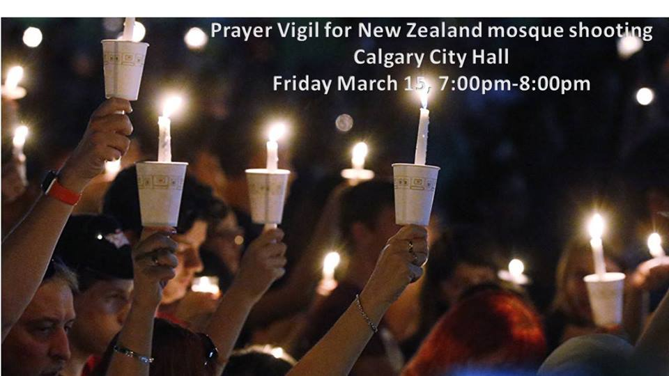 Community Prayer Vigil for Horrific New Zealand Mosque Shooting- March 15, 2019