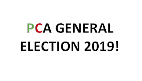 PCA General Election and Biennial Meeting Announcement- March 28, 2019