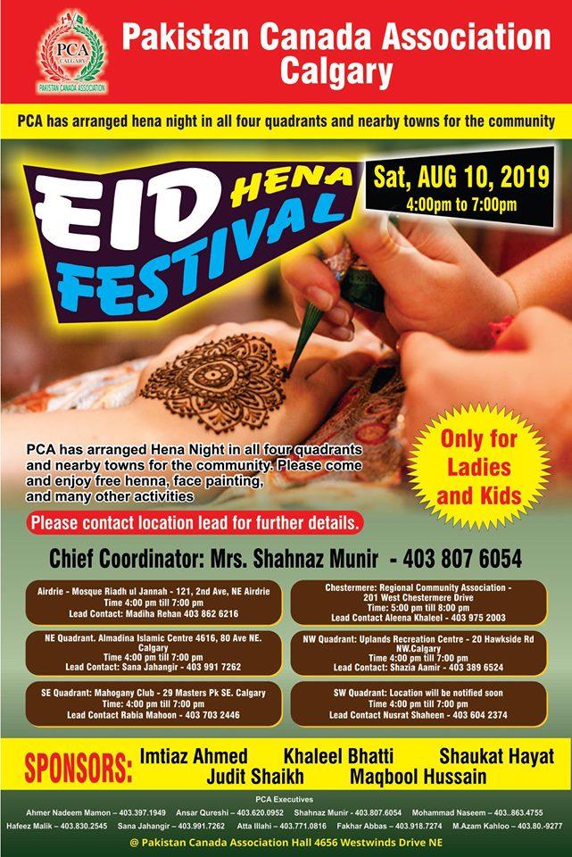 PCA Eid Hena Festival