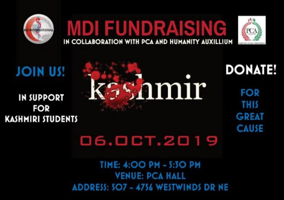MDI in Collaboration with PCA and Humanity Auxillium – Raising Funds for Kashmiri Students